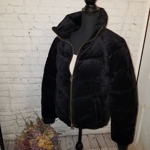 NWT Juicy Couture Velour Quilted Puffer